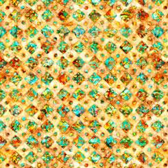 QT Fabrics Rhythm DIAMONDS HONEY 27105-S