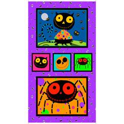 Creepy Halloweenies HALLOWEEN PANEL27107 X MULTI