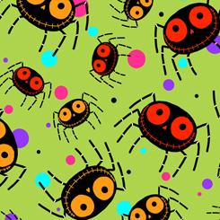 Creepy Halloweenies SPIDERS27109 H LIME