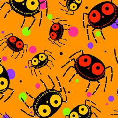 creepy halloweenies spiders orange