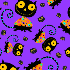 Creepy Halloweenies CATS 27110 V PURPLE