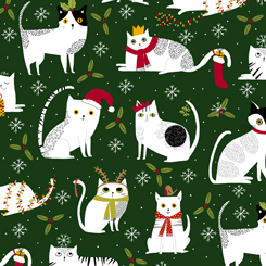 Meowy Christmas Cats Forest