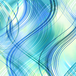 Kenzie Wavy Stripes Turquoise