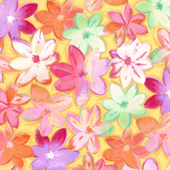 Callie PACKED FLORAL ABSTRACT YELLOW