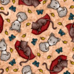 My Story - QT Fabrics - Tossed Cats