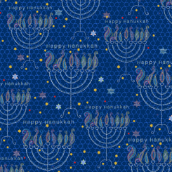 Happy Hanukkah MENORAHS NAVY