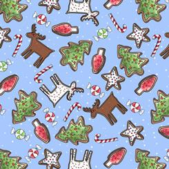Reindeer Antics CHRISTMAS COOKIE TOSS LIGHT BLUE (FA-27218-B)