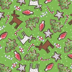 Reindeer Antics CSMS COOKIE TOSS GREEN 27218-G