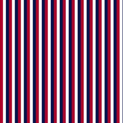 QT- Red White & Blue Stripe Red/Navy