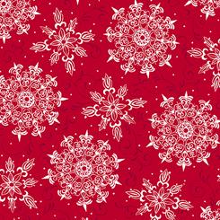 Pretty Poinsettias - Snowflake Toss Red