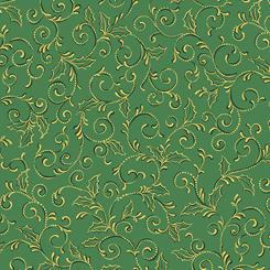 Pretty Poinsettias SCROLL SPRUCE