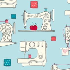 Sew What? 27237-Q Sewing Machines Aqua QT Fabrics