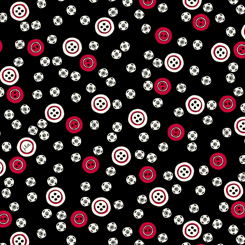 Sew What? BUTTON TOSS BLACK