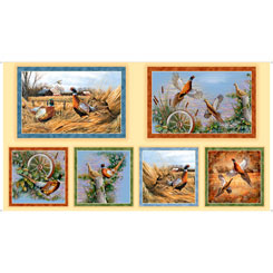 Pheasant Fields PHEASANT PICTURE PATCHES TAN