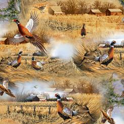 Quilting Treasures Pheasant Fields 27243-X PHEASANT SCENIC MULTI