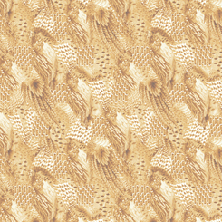 Quilting Treasures Pheasant Fields 27246-E FEATHERS TAN