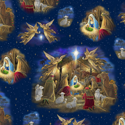Holy Night NATIVITY VIGNETTE NAVY 27252 N