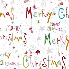 Happy Christmas MERRY CHRISTMAS WHITE