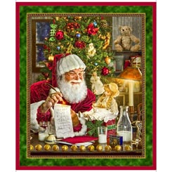 Quilting treasure Santa's List 36 SANTA PANEL MULTI