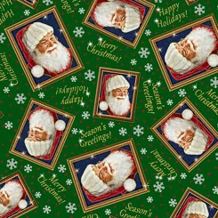 Santa's List TOSSED SANTA FRAMES DARK FOREST