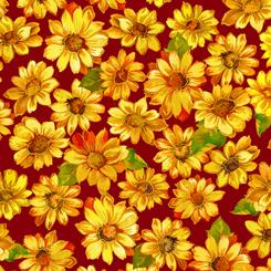 QT- Autumn Bounty Sunflowers on Wine