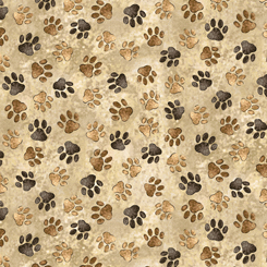 Loyal, Loveable Labs PAW PRINTS TAN 27289-E