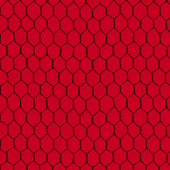 Q - Count Your Chickens - CHICKEN WIRE - RED