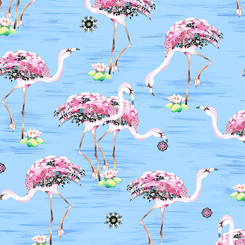 Fancy Flamingos FLAMINGOS LIGHT BLUE
