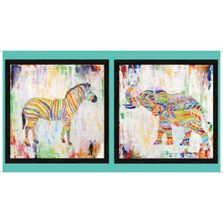 Artworks Xiii RAINBOW ANIMAL PANEL MULTI