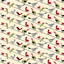 Retro Minis BIRDS ON A WIRE CREAM