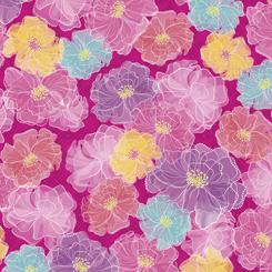 1172 Rachel Dot Floral Fuchsia