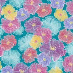 Rachel - Dotted Floral<br>27324-Q Turquoise