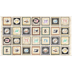 Tailor Made SMALL SEWING MACHINE PICTURE PATCHES CREAM