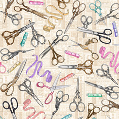 Tailor Made - Scissors on Taupe