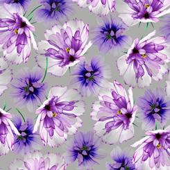 Emma TOSSED FLOWERS GRAY