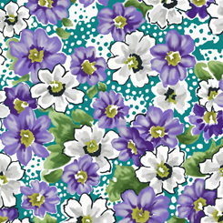 Violet FLORAL TEAL 27364-Q