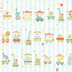 Animal Parade Stripe Baby Blue - 27369-B