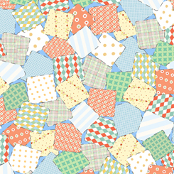 Animal Parade PATCHWORK BABY BLUE 27371-B
