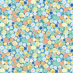 Animal Parade Buttons Blue 1649 27373 B