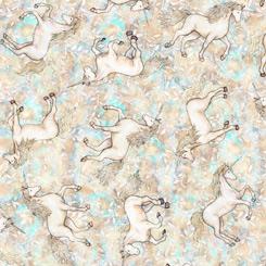 MYSTICAL tossed unicorns cream