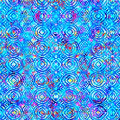 Zanzibar 27405 B GEO STRIPE BLUE