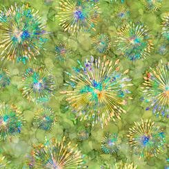 Quilting Treasures Botanica 27412-H SUNBURST CHARTREUSE