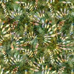 Quilting Treasures Botanica 27414-G LEAF VINE PINE