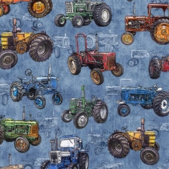 Sunrise Farms TRACTOR TOSS CHAMBRAY