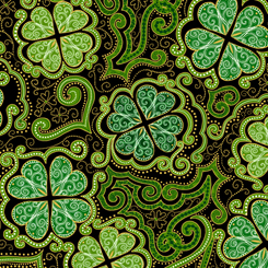 Lucky Clovers DECORATIVE CLOVERS BLACK