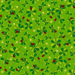Lucky Clovers CLOVERS LADYBUGS KELLY GREEN
