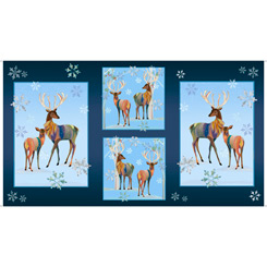 First Frost - Deer Patches - Navy - 27435-N