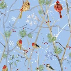 First Frost - Birds WINTER BIRDS BLUE