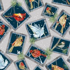 First Frost - Birds FRAMED WINTER BIRDS GRAY 27438-K