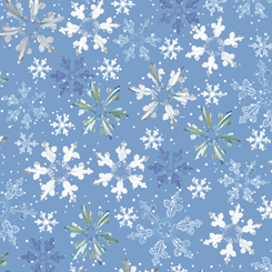 First Frost - Snowflakes - Blue - 27439-B